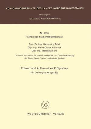 Entwurf Und Aufbau Eines Prufplatzes Fur Leiterplattengerate af Hans Jorg Tafel, Hans Jorg Tafel