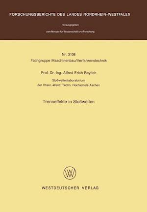 Trenneffekte in Stosswellen af Alfred E. Beylich, Alfred E. Beylich