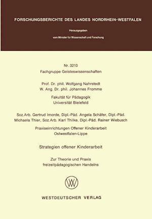 Strategien Offener Kinderarbeit af Wolfgang Nahrstedt