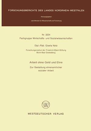 Arbeit Ohne Geld Und Ehre af Gisela Notz