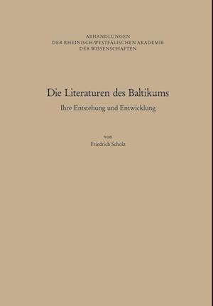 Die Literaturen Des Baltikums af Gesamthochschule Wuppertal, Friedrich Scholz
