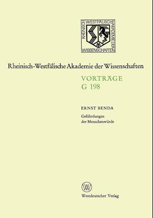 Gefahrdungen Der Menschenwurde af Ernst Benda