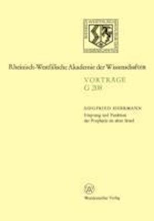 Ursprung Und Funktion Der Prophetie Im Alten Israel af Siegfried Herrmann
