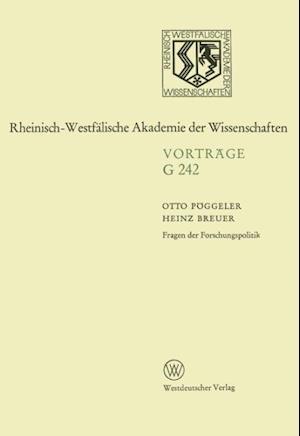 Fragen Der Forschungspolitik af Otto Peoggeler, Otto Poggeler