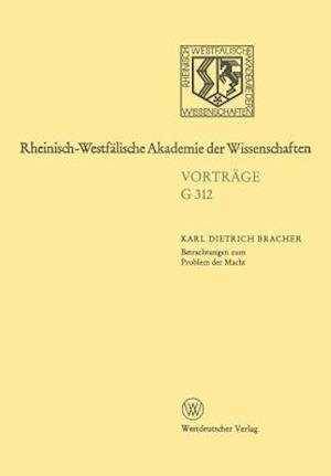 Betrachtungen Zum Problem Der Macht af Karl Dietrich Bracher, Karl Dietrich Bracher
