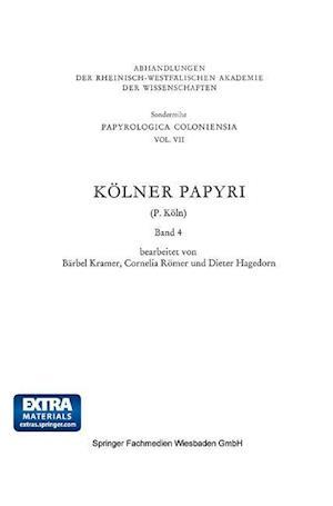 Kolner Papyri af Cornelia Romer, Barbel Kramer, P. Koln