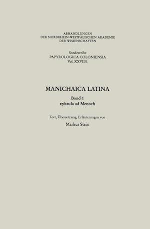 Manichaica Latina af Markus Stein Von Markus Stein