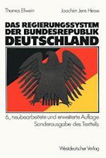 Das Regierungssystem Der Bundesrepublik Deutschland af Joachim Jens Hesse, Thomas Ellwein