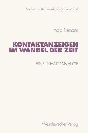 Kontaktanzeigen Im Wandel Der Zeit af Viola Riemann
