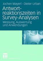 Antwortreaktionszeiten in Survey-Analysen af Jochen Mayerl, Dieter Urban