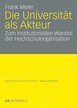 Die Universitat ALS Akteur af Frank Meier