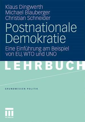 Postnationale Demokratie af Christian Schneider, Michael Blauberger, Klaus Dingwerth