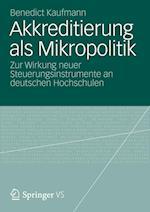 Akkreditierung ALS Mikropolitik af Benedict Kaufmann