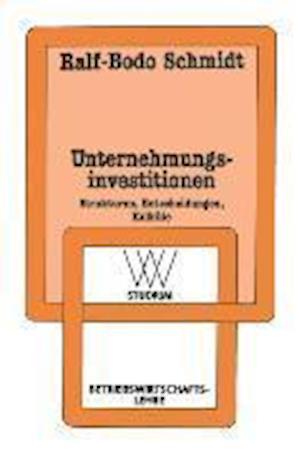 Unternehmungsinvestitionen af Ralf-Bodo Schmidt, Ralf-Bodo Schmidt