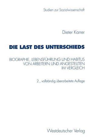 Die Last Des Unterschieds af Dieter Karrer