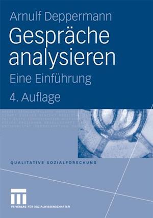 Gesprache analysieren af Arnulf Deppermann