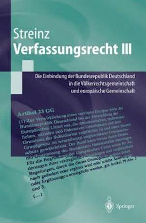 Verfassungsrecht III af Rudolf Streinz