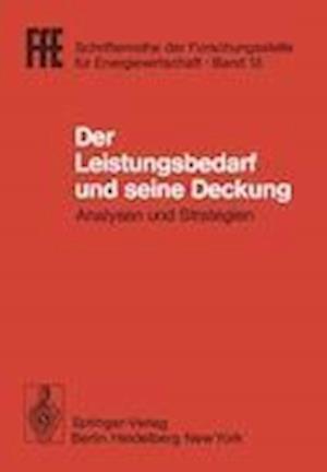 Der Leistungsbedarf und Seine Deckung af Helmut Schaefer