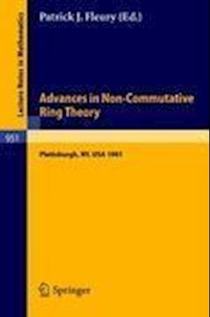 Advances in Non-commutative Ring Theory af Fleury