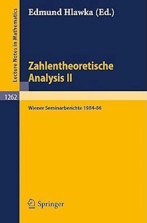 Lecture Notes in Mathematics Vol 1262 af Edmund Hlawka