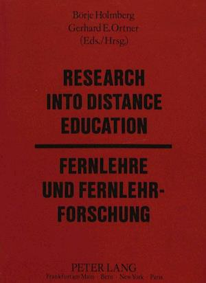 Research into Distance Education af Gerhard E. Ortner