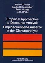 Empirical Approaches to Discourse Analysis Empirieorientierte Ansaetze in Der Diskursanalyse af Helmut Gruber