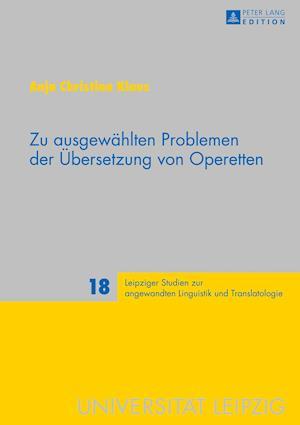 Bog, hardback Zu Ausgewaehlten Problemen Der Uebersetzung Von Operetten af Anja Klaus