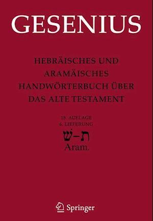 Hebraisches und Aramaisches Handworterbuch Uber das Alte Testament af Wilhelm Gesenius
