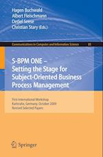 S-BPM ONE: Setting the Stage for Subject-Oriented Business Process Management af Christian Stary