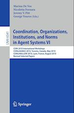 Coordination, Organizations, Institutions, and Norms in Agent Systems af Vos