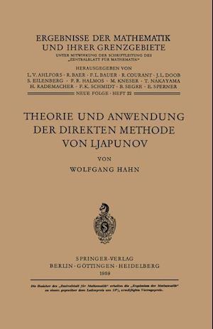 Theorie Und Anwendung Der Direkten Methode Von Ljapunov af Wolfgang Hahn