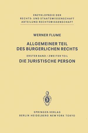 Allgemeiner Teil des Burgerlichen Rechts af Werner Flume