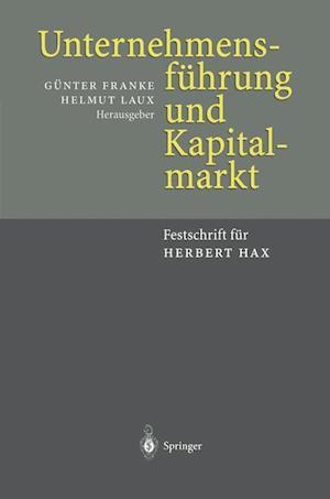 Unternehmensfuhrung und Kapitalmarkt af Gunter Franke