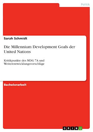Die Millennium Development Goals Der United Nations af Sarah Schmidt
