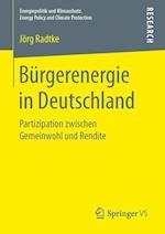 Burgerenergie in Deutschland (Energiepolitik Und Klimaschutz Energy Policy and Climate Pr)