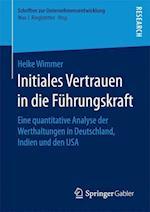 Initiales Vertrauen in Die Fuhrungskraft (Schriften Zur Unternehmensentwicklung)