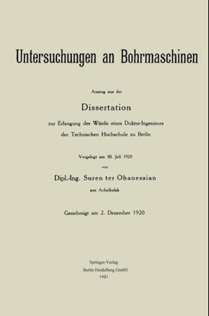 Untersuchungen an Bohrmaschinen af Johannes Patzold