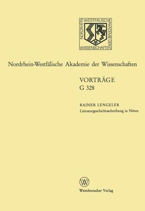 Literaturgeschichtsschreibung in Noten. Uberlegungen zur Geschichte der englischen Literatur des 20. Jahrhunderts af Rainer Lengeler