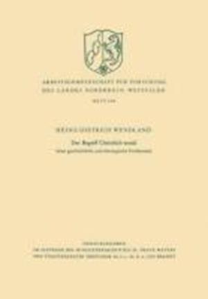 Der Begriff Christlich-Sozial af Heinz-Dietrich Wendland