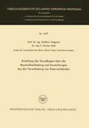 Ermittlung Der Grundlagen Uber Die Raumluftaufladung Und Auswirkungen Bei Der Verarbeitung Von Faserverbanden af Walther Wegener