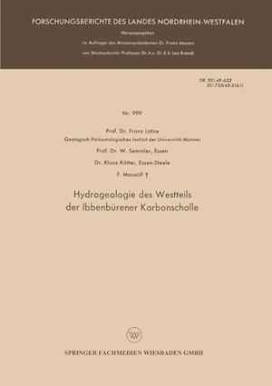 Hydrogeologie Des Westteils Der Ibbenburener Karbonscholle af W. Semmler, Klaus Kotter, Franz Lotze