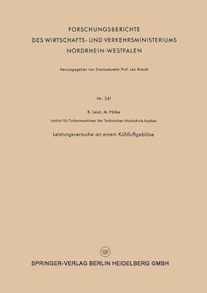 Leistungsversuche an Einem Kuhlluftgeblase af Karl Leist