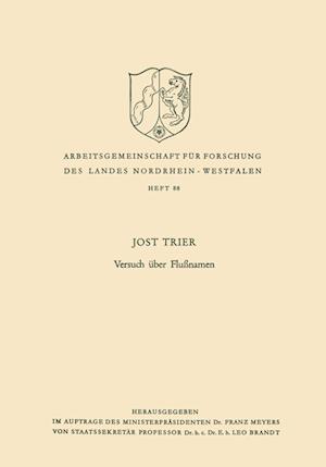 Versuch Uber Flussnamen af Jost Trier