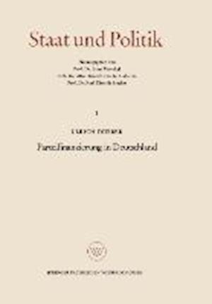Parteifinanzierung in Deutschland af Ulrich Dubber
