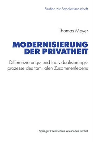 Modernisierung der Privatheit af Thomas Meyer