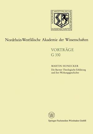 Die Barmer Theologische Erklarung und ihre Wirkungsgeschichte af Martin Honecker