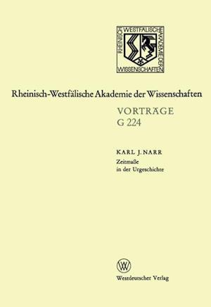 Zeitmae in der Urgeschichte af Karl J. Narr