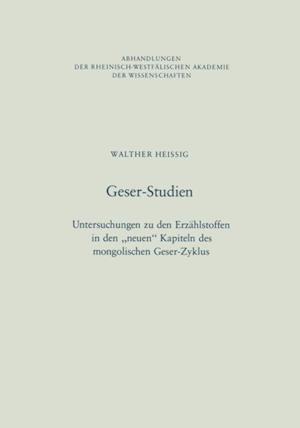 Geser-Studien af Walther Heissig