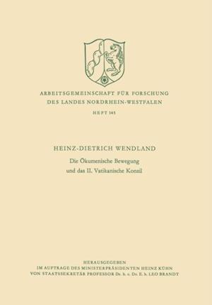 Die Okumenische Bewegung und das II. Vatikanische Konzil af Heinz-Dietrich Wendland