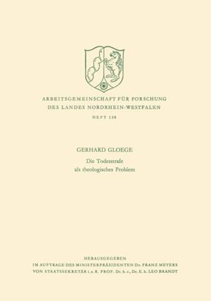 Die Todesstrafe als theologisches Problem af Gerhard Gloege